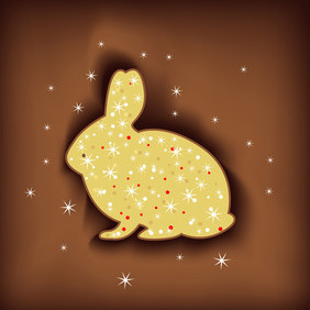 Magic Easter Rabbit - Free vector #209305