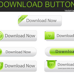Free Vector Download Buttons - бесплатный vector #209435
