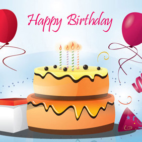 Birthday Cake Vector By Vectorvaco.com - Kostenloses vector #209445