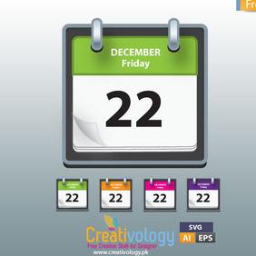 Free Vector Calendar Icon - Kostenloses vector #209455