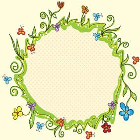 Spring Floral Frame 1 - Free vector #209645