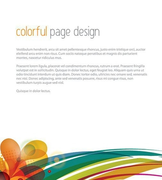 Colorful Page Design - vector gratuit #209655