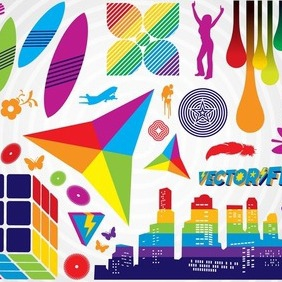 Colorful Graphics - vector gratuit #209665
