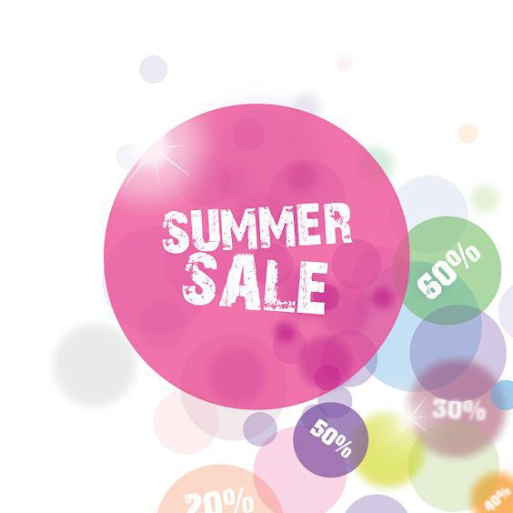 Summer Sale-Kreise - Free vector #209725
