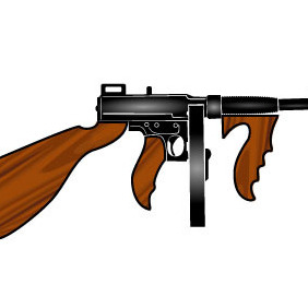 Machine Gun Vector Image - Free vector #209785