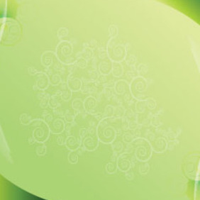 Green Background With Shapes Free Abstract Vector - Kostenloses vector #209855