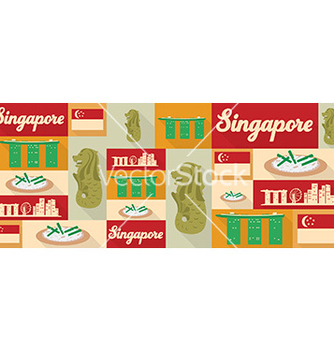 Free travel and tourism icons singapore vector - Free vector #209875