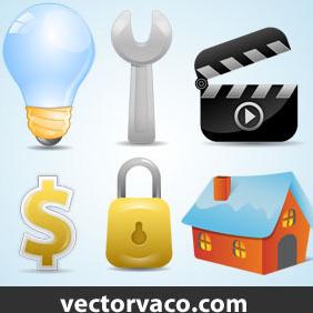 Web Icons Vector By Vectorvaco.com - Free vector #209895