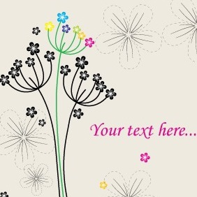 Vector Greeting Card With Flowers - Free vector #209955