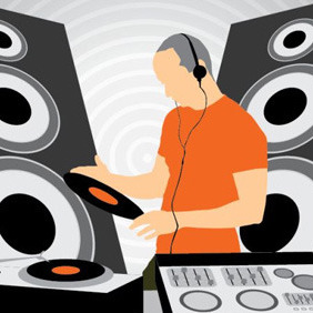Dj In A Club - Free vector #209965