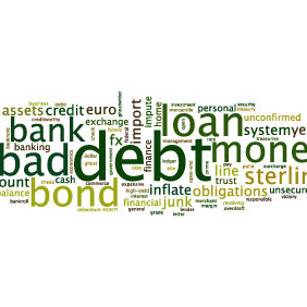 Financial Words Vector Cloud Bkg - vector gratuit #210115