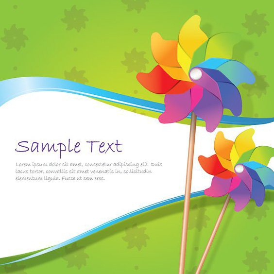 Windmill Background - Free vector #210145