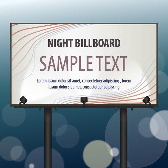 Ночь Billboard - бесплатный vector #210215