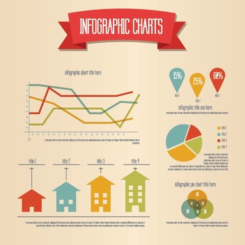 Retro Infographic - vector #210235 gratis