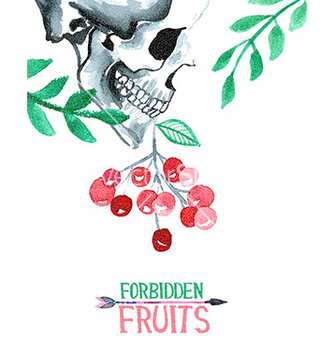 Free watercolor with skull vector - Kostenloses vector #210245