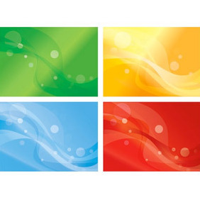 Set Of Four Variants Of Abstract Color Backgrounds - Free vector #210255