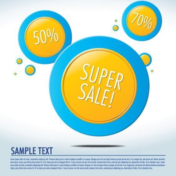 Yellow Circles - vector gratuit #210325