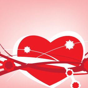 Valentines Abstract Card Lines - vector #210515 gratis