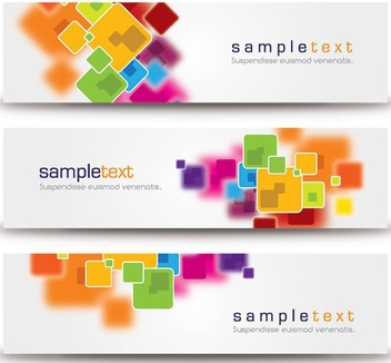Abstract Minimalist Banners - vector #210545 gratis