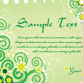 Green Swirls Card - vector #210565 gratis