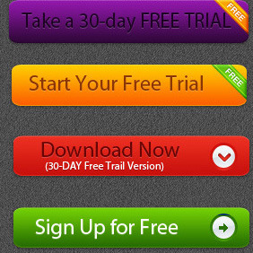 Free Vector Trial Button - Free vector #210615