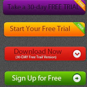 Free Vector Trial Button - Kostenloses vector #210615