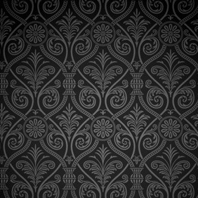 Black Ancient Damask - vector gratuit #210625