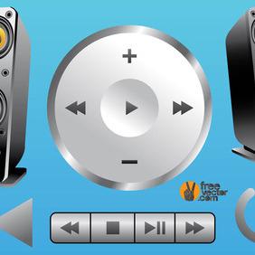 3D Music Vectors - Free vector #210675