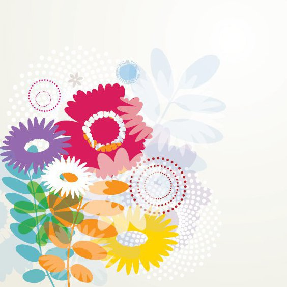 fleurs d'été - vector gratuit #210685