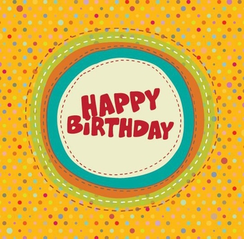 Colorful Birthday Card - vector #210695 gratis