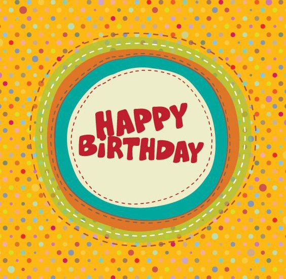 Colorful Birthday Card - vector gratuit #210695