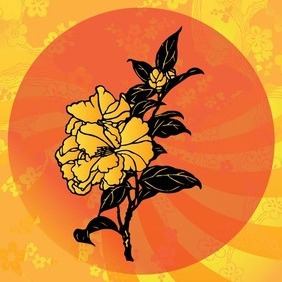 Asian Flowers - vector gratuit #210725