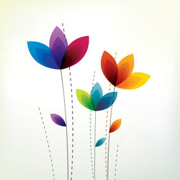 Colorful Flowers - Free vector #210855