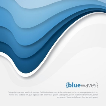 Blue Waves - vector #210905 gratis