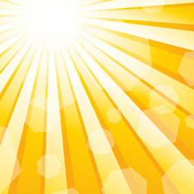 Yellow Sun Vector - Free vector #210955