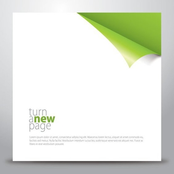 Turn a New Page - vector gratuit #210975