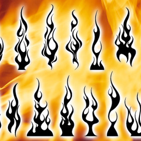 14 Flames For Logo Design - vector #210995 gratis