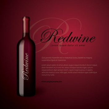 Redwine Bottle - Kostenloses vector #211025