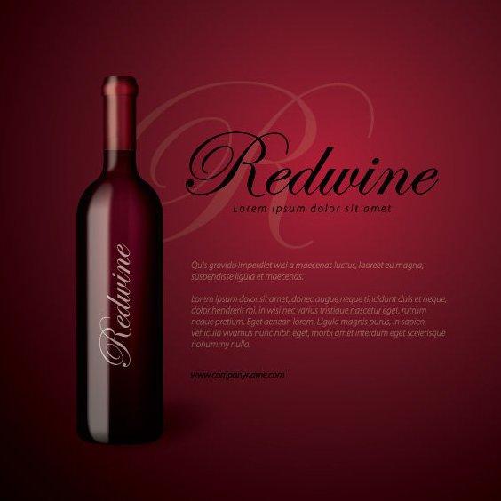 Redwine Flasche - Kostenloses vector #211025