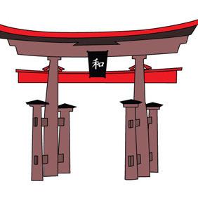 Japanese Pagoda - vector gratuit #211215