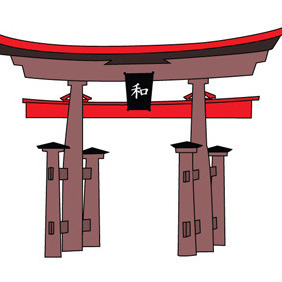 Japanese Pagoda - Free vector #211215