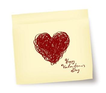 Valentine Note - Kostenloses vector #211245