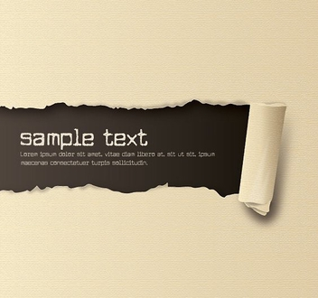 Ripped Textured Paper - vector gratuit #211275