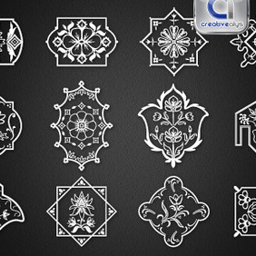 12 Floristic Designs - Free vector #211285