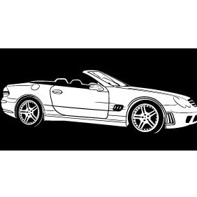 Mercedes Benz Car Model Vector - vector gratuit #211475