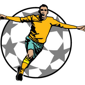 Goal Celebration Soccer Vector - Free vector #211485