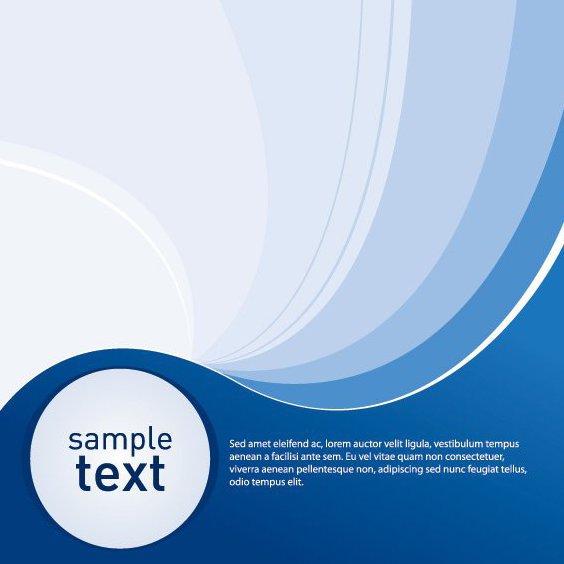Beispielprojekt blauem Hintergrund - Free vector #211505