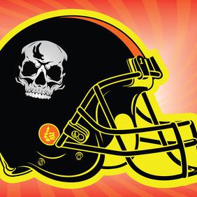 Football Helmet 2 - бесплатный vector #211625