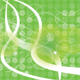 Green Empty Circles Abstract Vector - бесплатный vector #211675