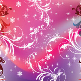 Swirly Purpled Stars Vector New Year Art - vector #211725 gratis